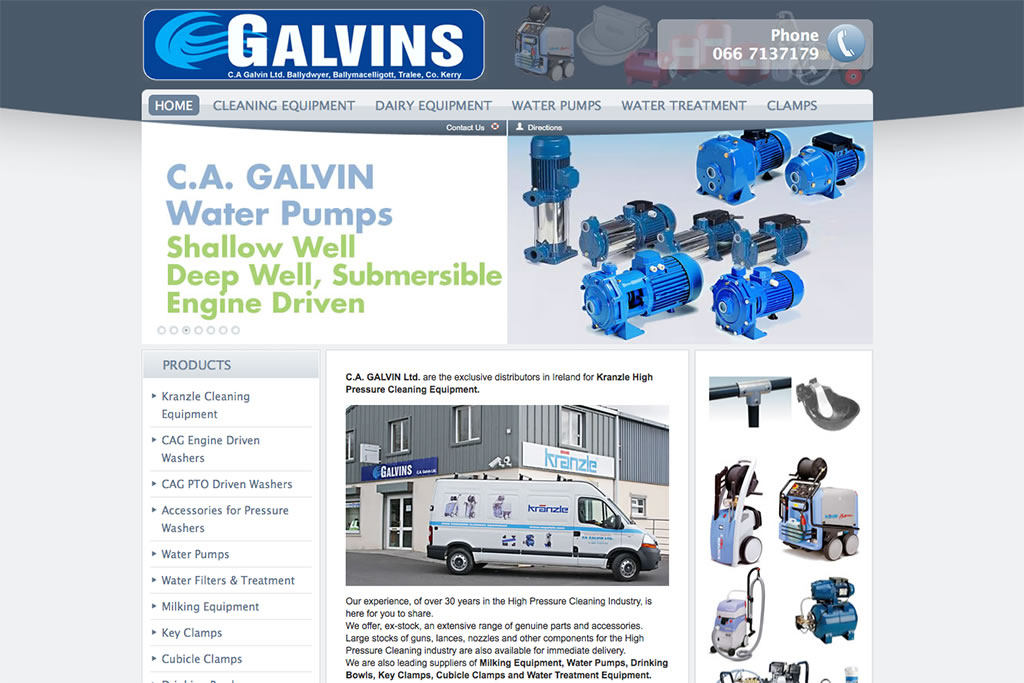 Joomla Website Design with Virtuemart for Galvins