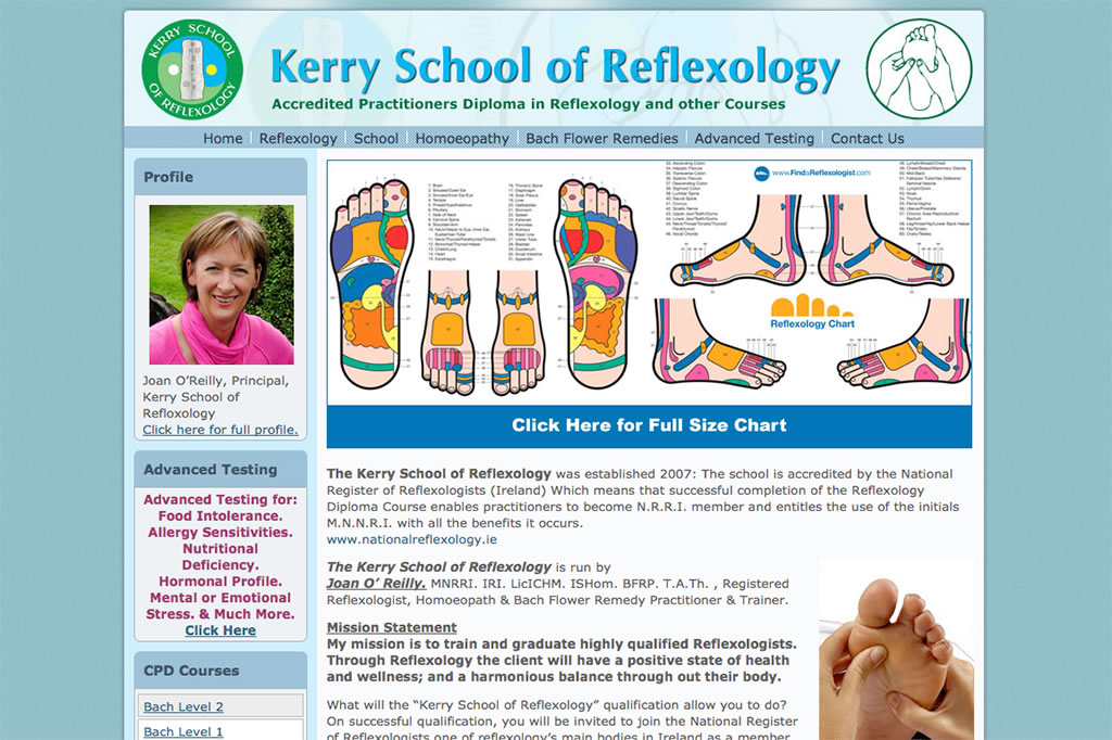 Wordpress Website Design for Kerry Reflexology