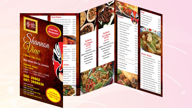 Chinese Restaurant Menu Design