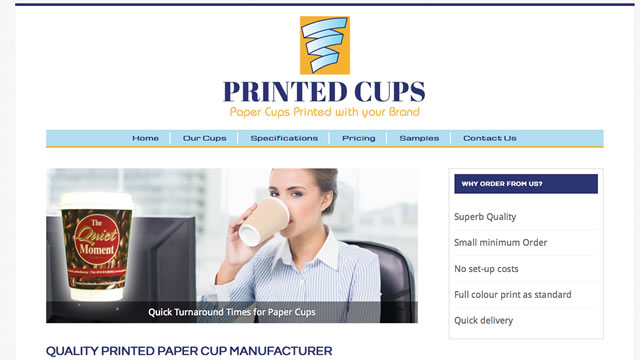 Printed Cups Website