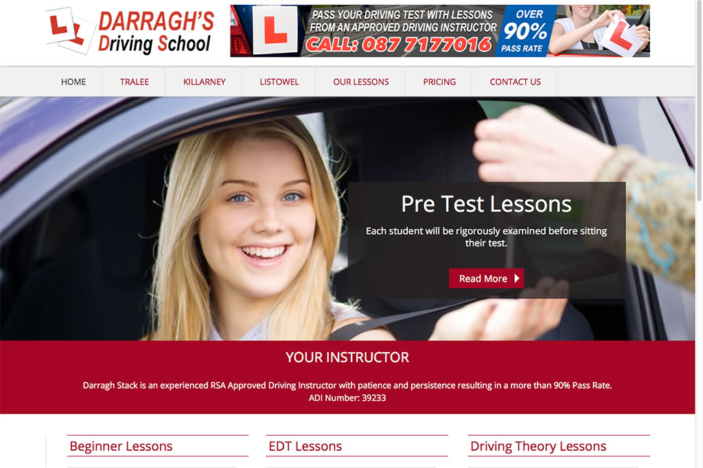 Darraghs Driving School Website